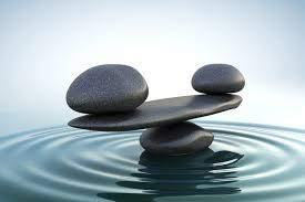 Stones balancing in water